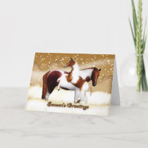 Christmas Card - Happy Holidays - Horses, Foal & M