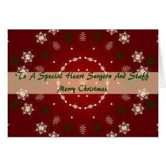 Christmas Card Heart Surgeon And Staff