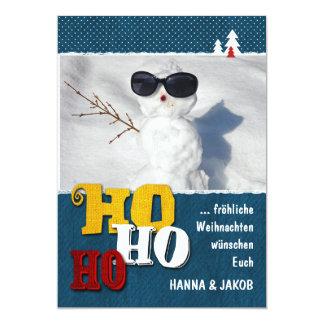 Christmas card HO HO HO