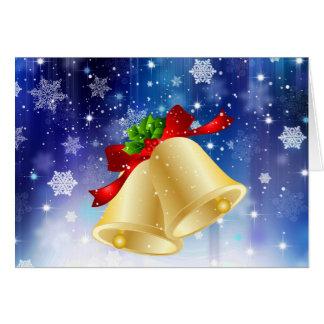Christmas Card, holiday bells Card