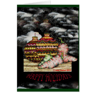 Christmas Card Holiday Greetings by DeDe Shamel