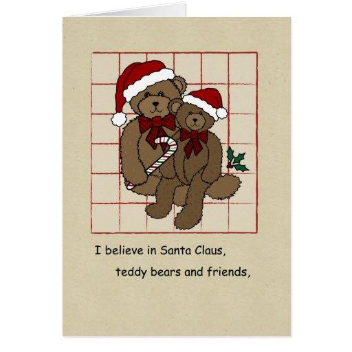 Christmas Card, I believe in Teddy Bears