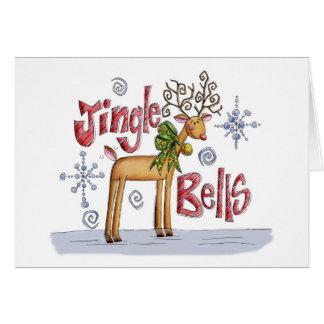 Christmas Card - Jingle Bells Reindeer