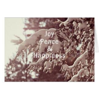 Christmas Card - Joy,Peace & Happiness