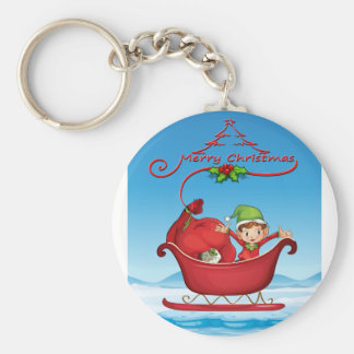 Christmas card keychain