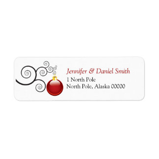Christmas Card  Label Stickers Return Address Labels