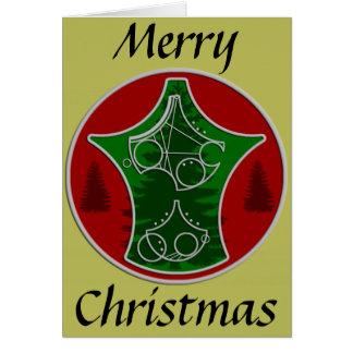Christmas Card Merry Christmas with Trees