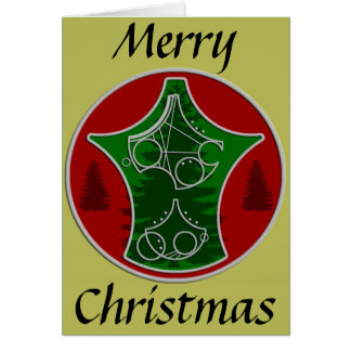 Christmas Card: Merry Christmas with Trees Greeting Card