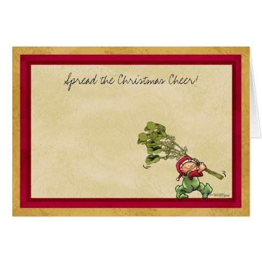 Christmas card - Mistletoe kiss