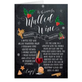 christmas card mulled wine chalkboard
