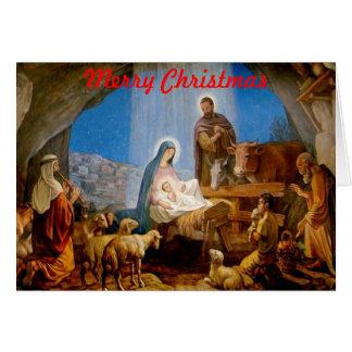 Christmas Card - Nativity Scene