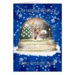 Christmas card, Nice Christmas, Elf in a snow glob