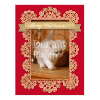 Christmas card of photo frame