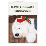 Christmas Card - Old English Sheepdog