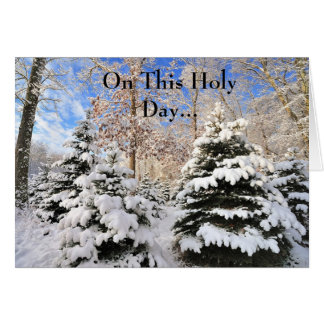 Christmas Card-On This Holy Day... Card