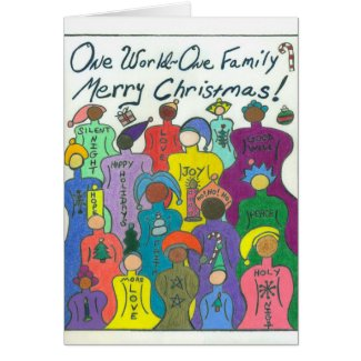 Interracial greeting cards interrace today christmas card one world one family m4hsunfo