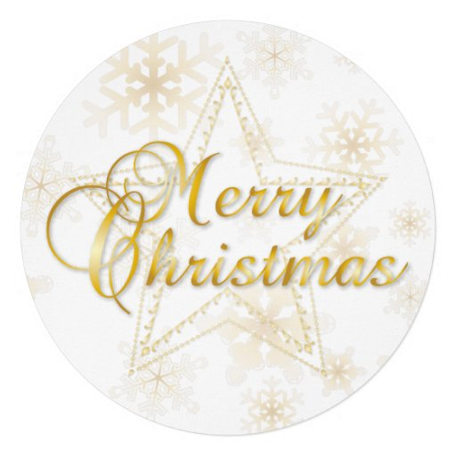 Christmas Card & Ornament - gold - Round Card