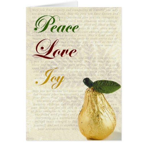 Christmas Card Peace Love Joy