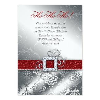 Christmas Card Photo Santa Belt Glitter Announcement