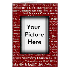 Christmas Card Picture Frame at Zazzle