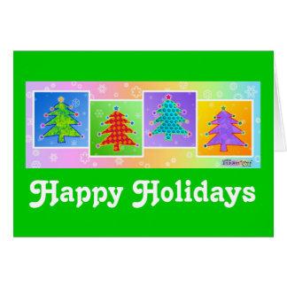Christmas Card - Pop Art Christmas Trees