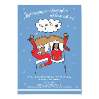 Christmas Card Pregnancy Announcement- African Am