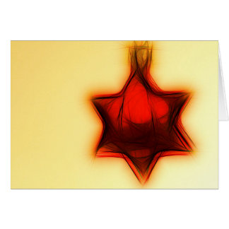 Christmas card red star PopArt