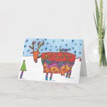 "Christmas Card ""Reindeermoo"""