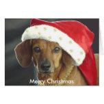 Christmas Card - Santa Dachshund