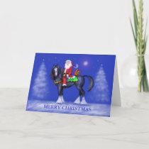 Christmas Card - Santa on Horseback