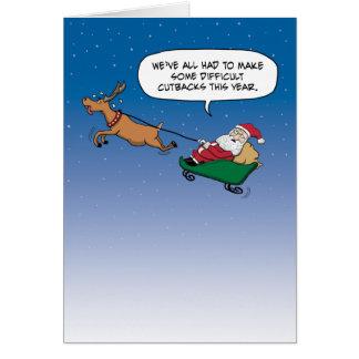 Christmas card: Santa's Cutbacks