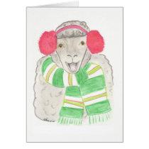 Christmas card, sheep card