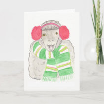 Christmas card, sheep holiday card