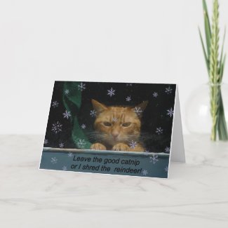 Christmas Card 'Shred rhe Reindeer' card
