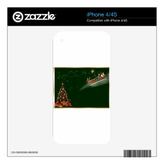 Christmas-card Skin For iPhone 4S