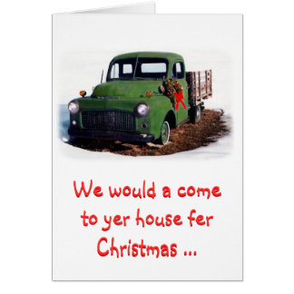 Christmas Card-Snazzy New Pickup Greeting Card