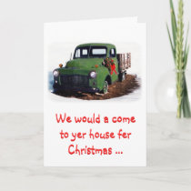 Christmas Card-Snazzy New Pickup Holiday Card