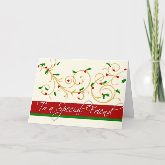 Christmas card special friend zazzle christmas card special friend m4hsunfo