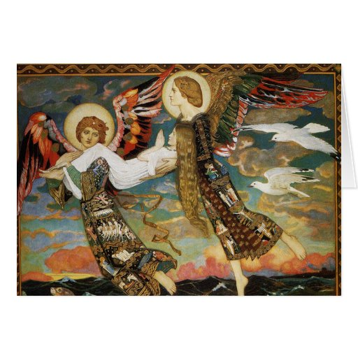 Christmas Card: St. Bride Carried by Angels