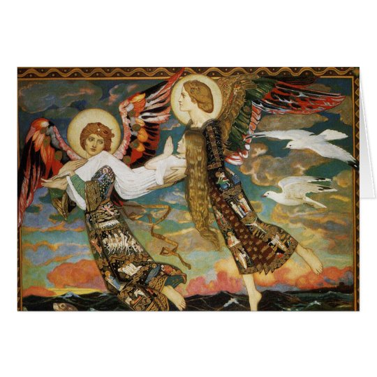 Christmas Card: St. Bride Carried by Angels Card