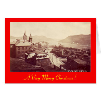 Christmas Card, St John's, Newfoundland Card