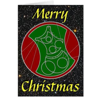 Christmas Card Starry Merry Christmas