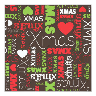 Christmas card stationary information