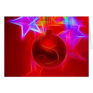 Christmas card talk Christmas bauble Colorful of