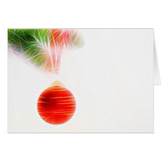 Christmas card talk Christmas bauble with fir bran