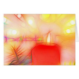 Christmas card talk Christmas candle on pastel