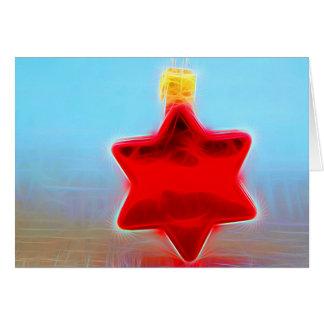 Christmas Card talk Christmas - star glass