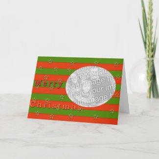 Christmas card template card