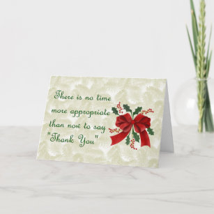 Christmas business thank you cards zazzle christmas card thank you for business customers reheart Choice Image
