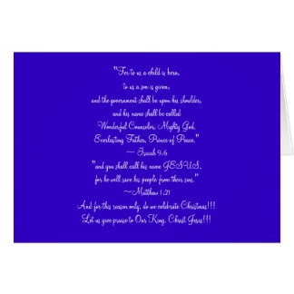 Christmas Card, The Reason we celebrate Christmas Greeting Card